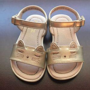 Toddler cat sandals 6C